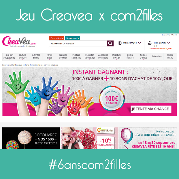 com2filles f te ses 6 ans avec creavea. Black Bedroom Furniture Sets. Home Design Ideas