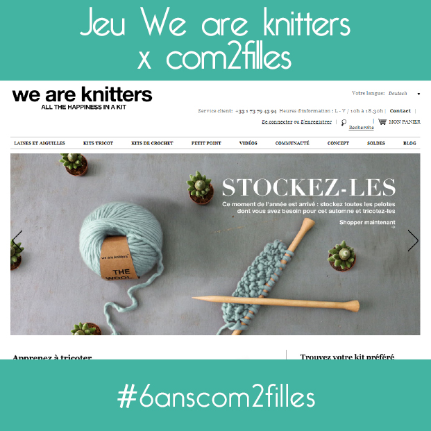we are knitters - anniversaire blog DIY