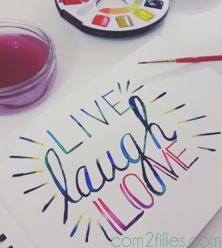 watercolor - handlettering - aquarelle