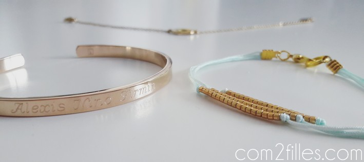 Bracelets dores - bijoux personnalise - tendance and co