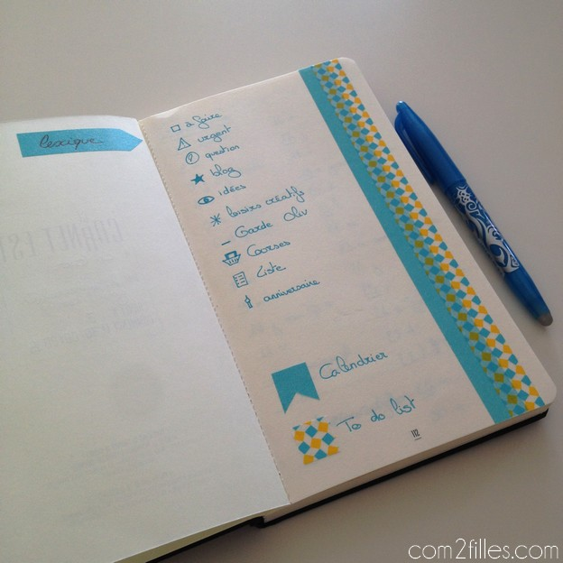 bullet journal - icons codes