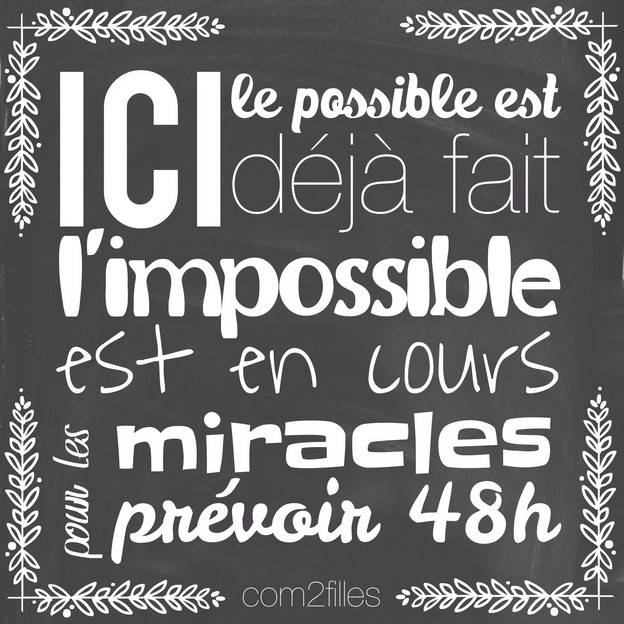 citation impossible miracle
