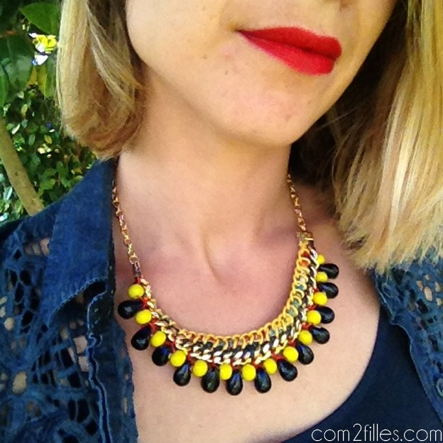 collier plastron diy