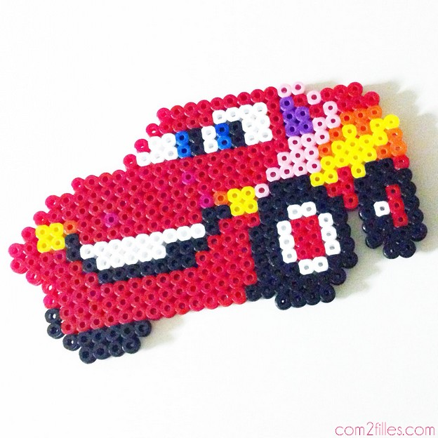 flash mc queen - cars 2 - perles hama