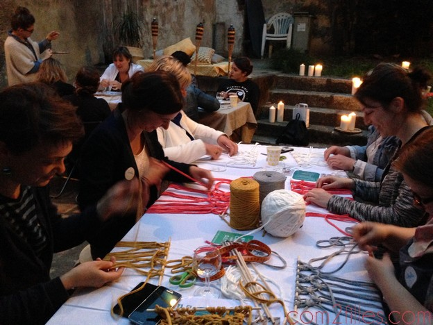 Craft night nantes - atelier macramé