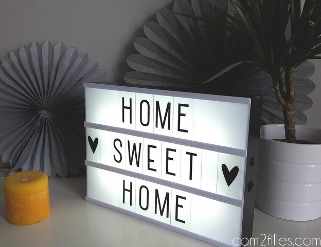 deco salon - light box - home sweet home