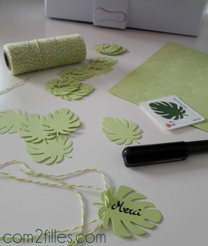 toga paris - cut it all - dies feuille monstera - bakers twine