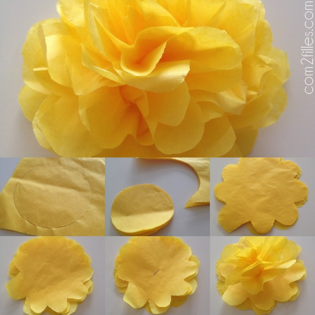 Decoration fleur en papier - Comment faire une rose en papier facile ...