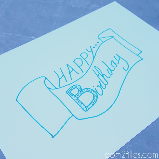 FlowAlphabet - lettre B - Happy Birthday