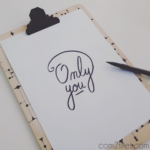 FlowAlphabet - lettre O - Only you