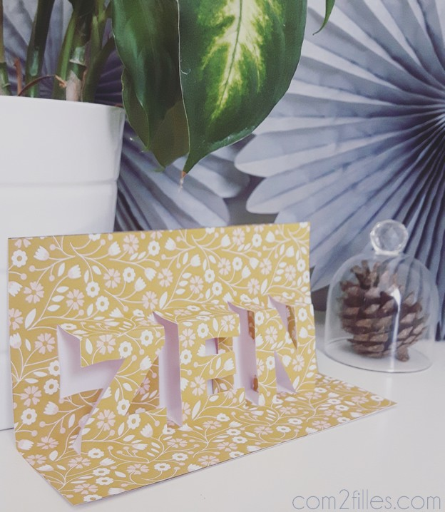 FlowAlphabet - lettre Z - carte pop up