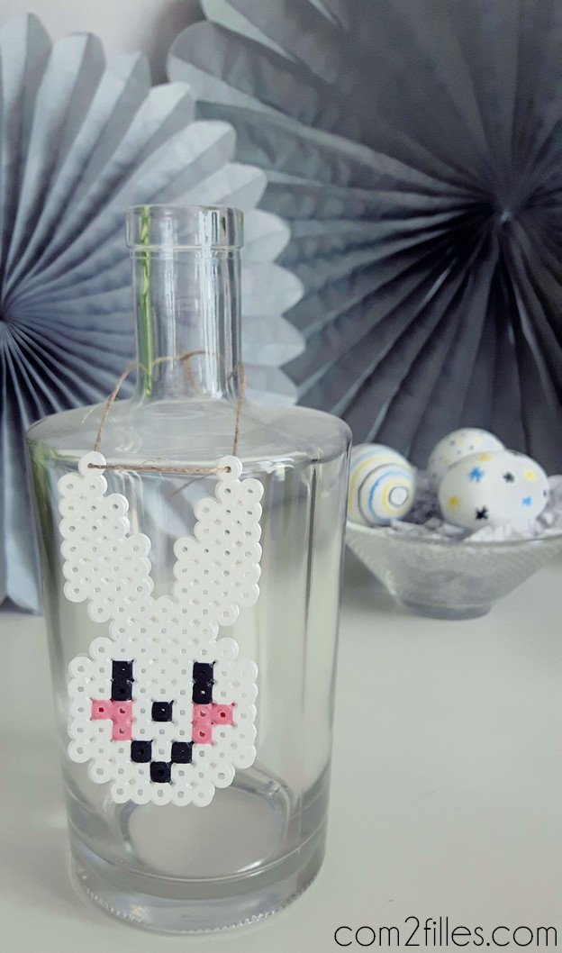 deco table paques - lapin perles hama