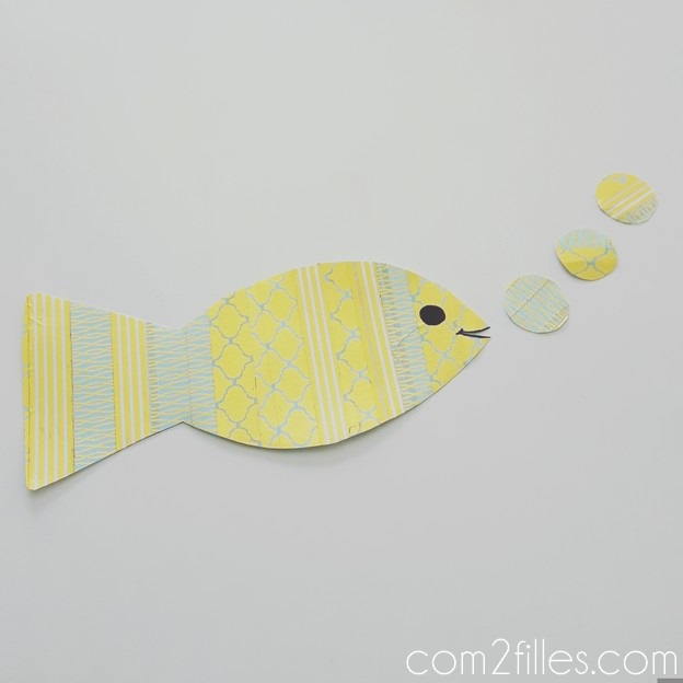 DIY - poisson d avril - masking tape
