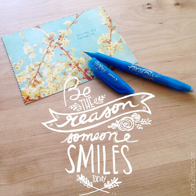 #Projet52Cartes - be the reason someone smiles today