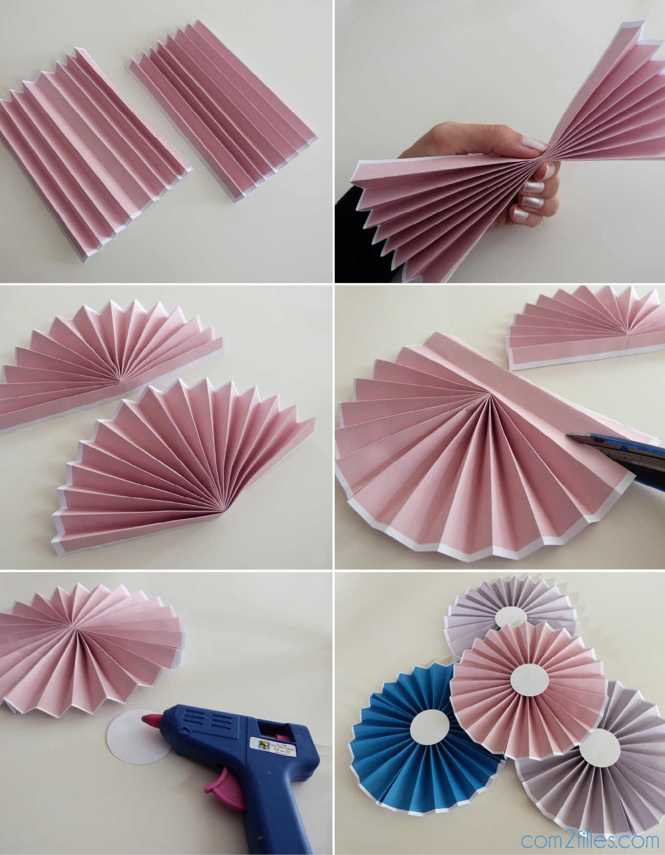 Diy le tuto des rosaces en papier niveau facile for Decoration avec du papier