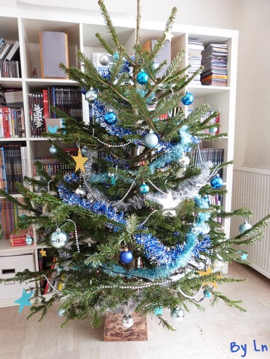 Une d co no l diy un sapin 3 tutos - Sapin de noel bleu ...