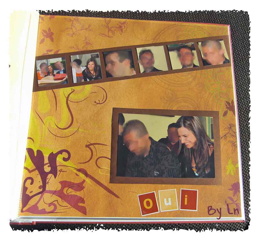 album scrapbooking mariage civil