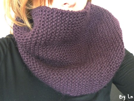 snood écharppe tube tricot