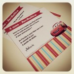 Invitation anniversaire Cars
