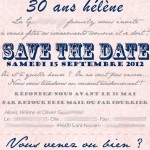 save the date anniversaire 30 ans