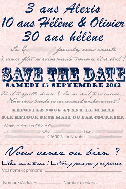 des invitations et save the date guinguette. Black Bedroom Furniture Sets. Home Design Ideas