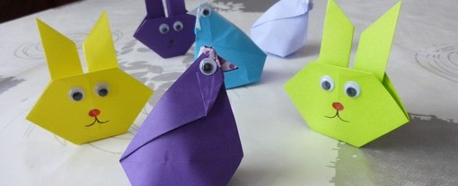 pliage origami paques