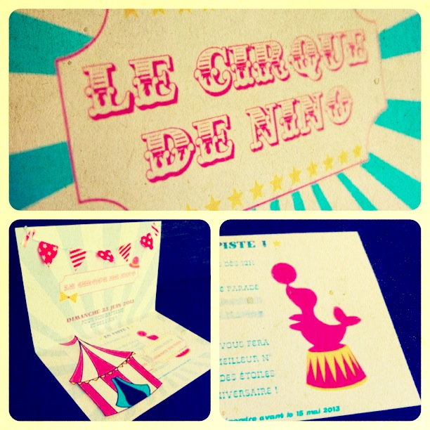 faire-part invitation diy cirque