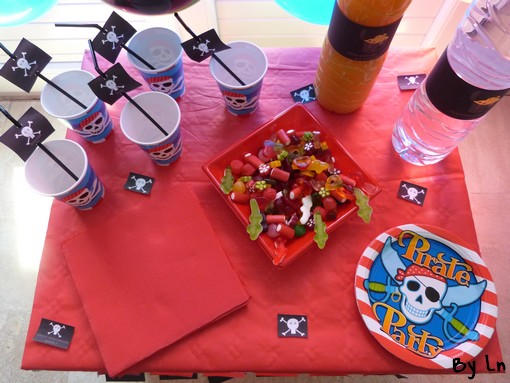 sweet table anniversaire pirates