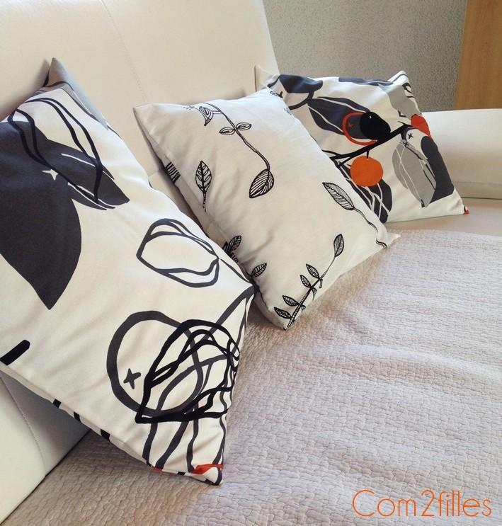 Astuce couture coussin for Couture housse coussin facile