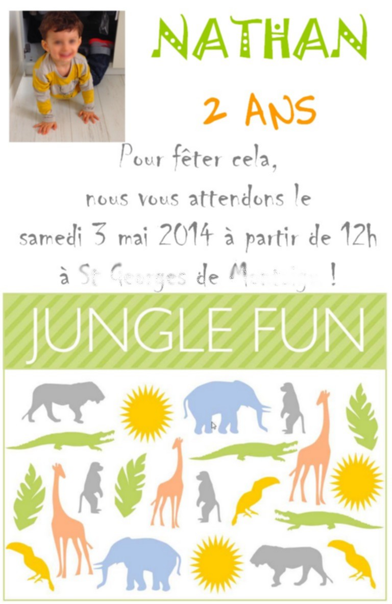 anniv 2 ans jungle