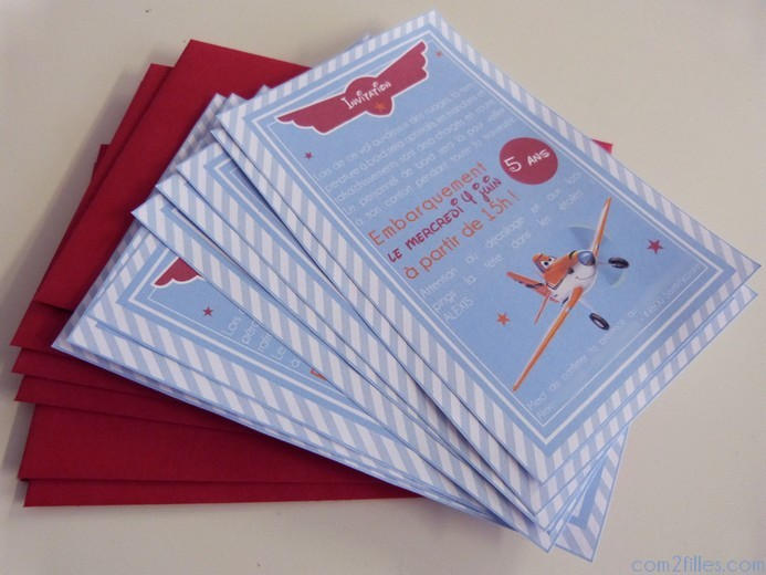 invitations anniversaire avion