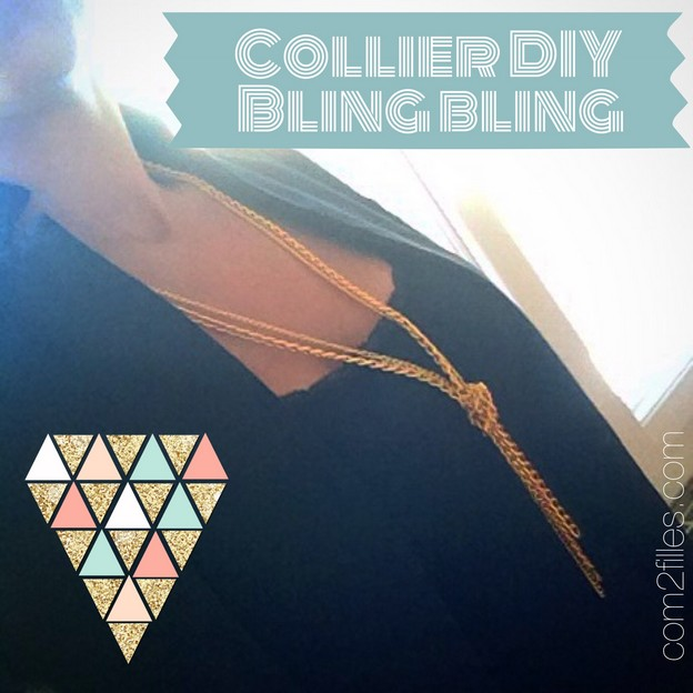collier DIY bling bling