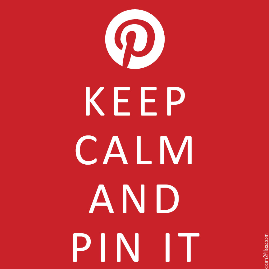 pinterest addict - keep calm and pin it