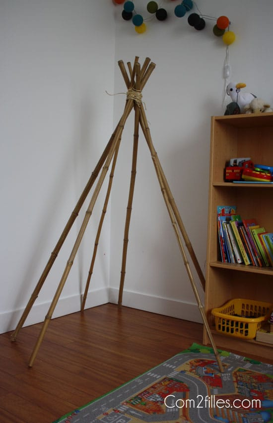diy mon petit tipi. Black Bedroom Furniture Sets. Home Design Ideas