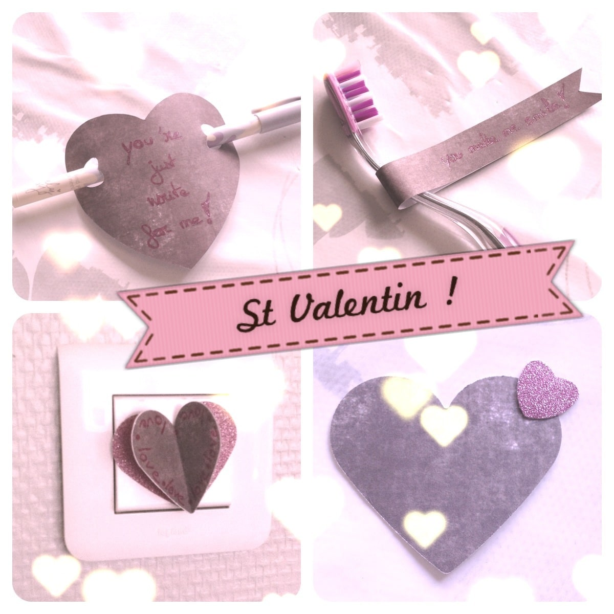 id es diy pour la saint valentin. Black Bedroom Furniture Sets. Home Design Ideas