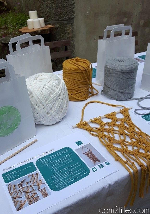 Craft night nantes - atelier DIY - macrame