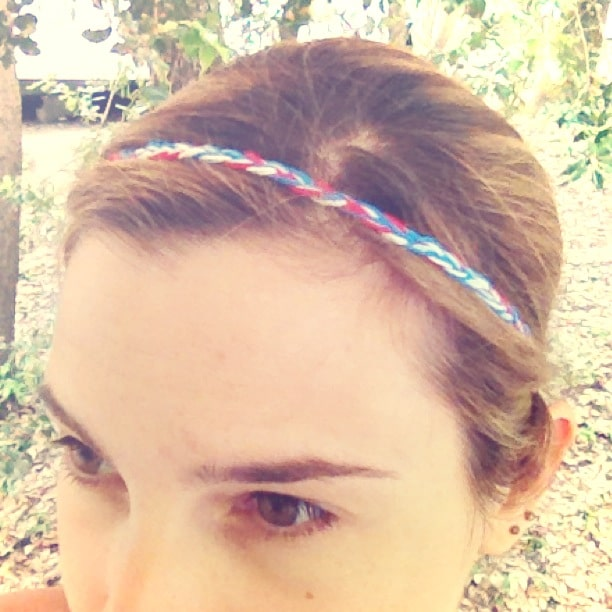 headband DIY - tressé