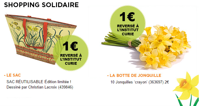 shopping solidaire - truffaut - jonquille - curie