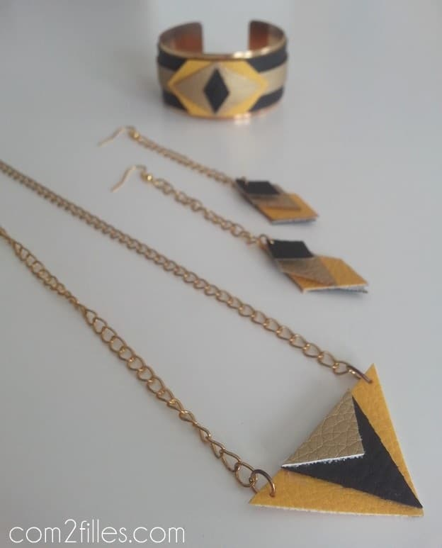 Bijoux DIY - simili cuir
