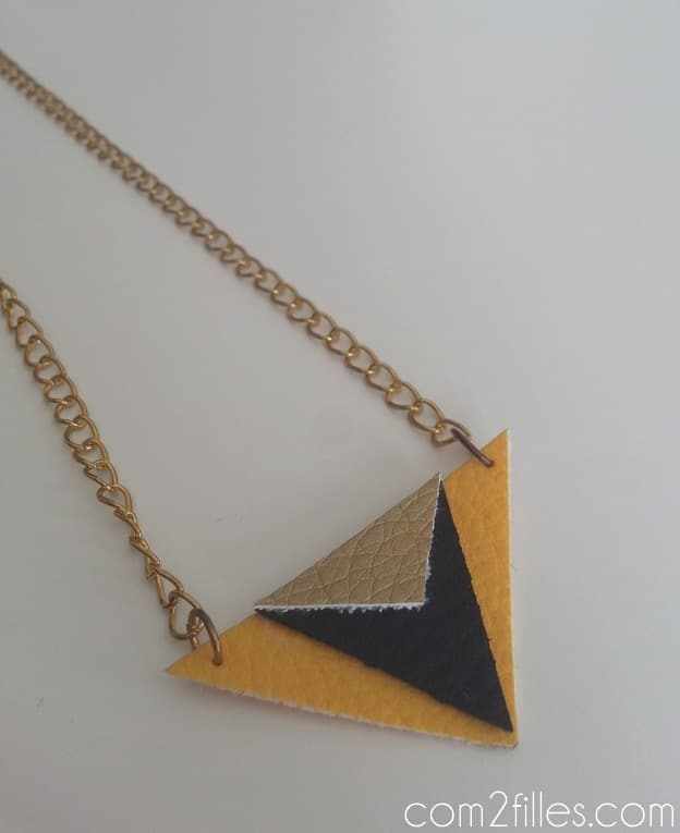 collier DIY - simili cuir