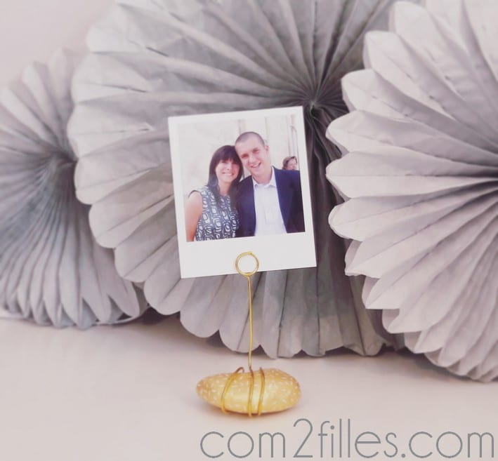porte photo galet DIY