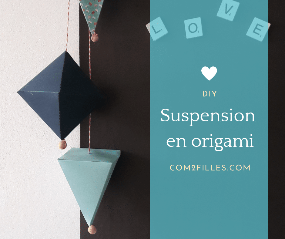 Suspension en origami - DIY