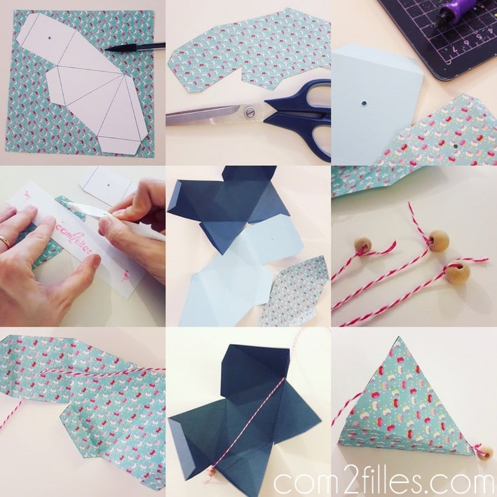 DIY - suspension origami - papier