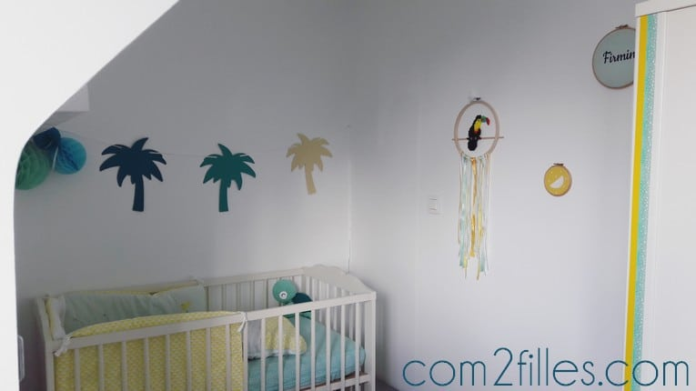 chambre enfant theme jungle tropicale