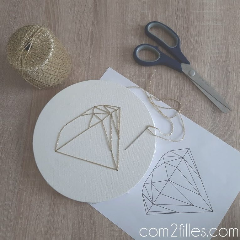 origami - chassis - broderie - diamant
