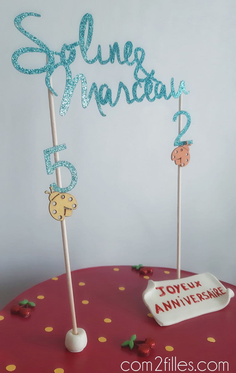 cake topper - papier - machine decoupe - cricut