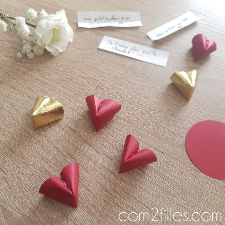 DIY - Fortune cookie en papier - saint-valentin