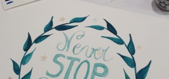 Aquarelle : Never STOP dreaming !