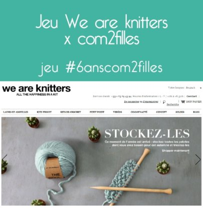 Concours des 6 ans : We are Knitters x Com2filles